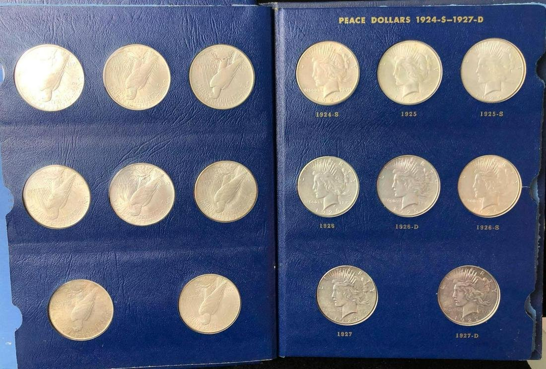 (23) Peace Dollars 1921-1935-S Collectors Books