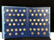 (73) 1916-1945 Mercury Dimes Collector Book Partial