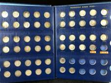 (52) 1946-1968 Roosevelt Dimes Collector Book Nearly
