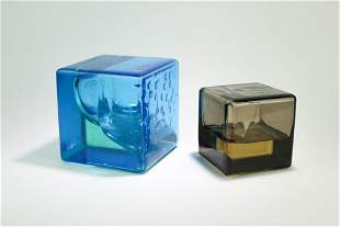 Two (2) James Ossi Acrylic Kinetic Sculpture Cubes