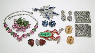 Lot of Vintage Costume Jewelry Dior Trifari Jomez