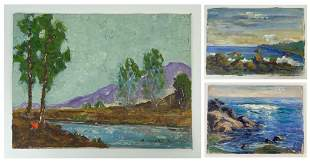 Group of (3) Small Plein Air Paintings Bosman