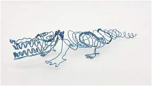 Artist Unknown Vintage Wire Alligator Sculpture