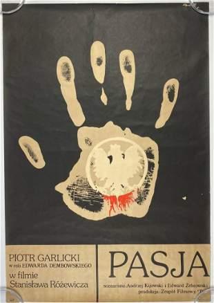 Original 1978 Pasja / Passio Polish Film Movie Poster