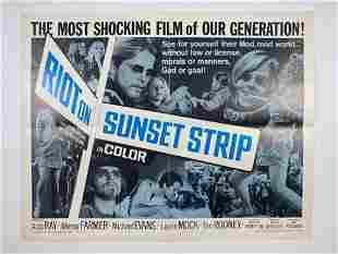 Original 1967 Movie Poster Riot on Sunset Strip