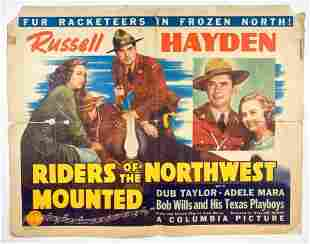 Original 1943 Riders of the Northwest Mounted Poster