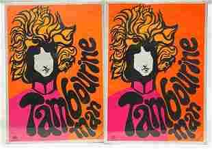 Lot (2) 1967 Dan Shupe Bob Dylan Tambourine Man