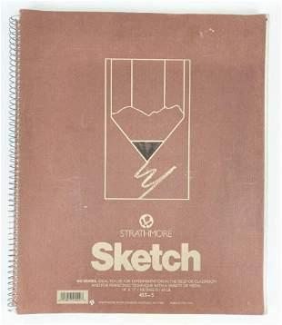 Sketch Book W/ 95 Original Drawings Set Design Graphic