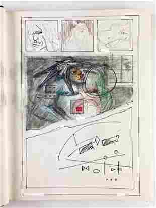 Thomas Applegate Artist's Sketch Book Drawings & Notes