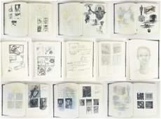 Vintage Artist's Sketch Book Original Illustrations