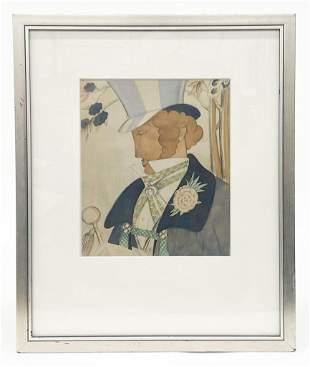 Framed Print Man in Top Hat
