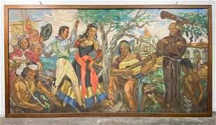 Attrib. Frank Bowers, Painting on Wood Panel