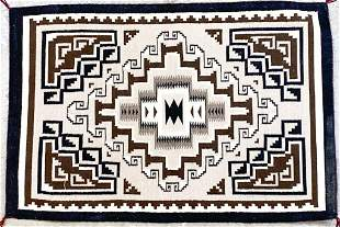 Navajo Rug Two Grey Hills Weaving