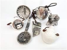 Lot of 7 Michael Kanteena American Indian Pottery