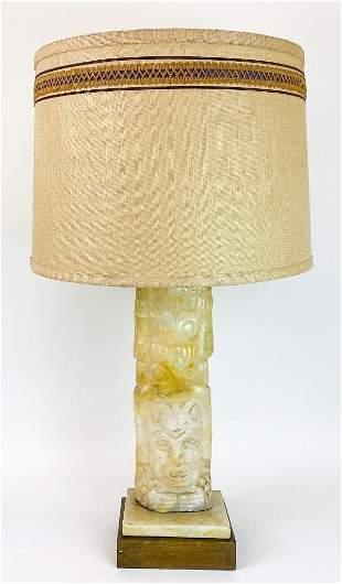Aztec Revival Stone Table Lamp