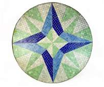 Mid-Century Glass Tile Mosaic Outdoor Table Top