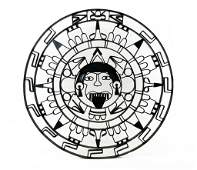 Mid-Century Mexican Wrought Iron Mayan Wall Sculpture