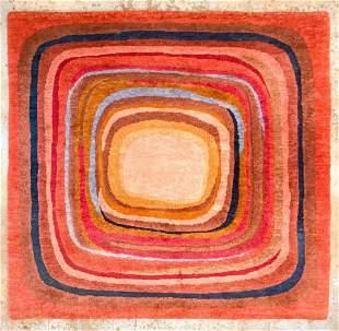 Olga Fisch (1901-1990) Multicolor Mid-Century Wool Rug