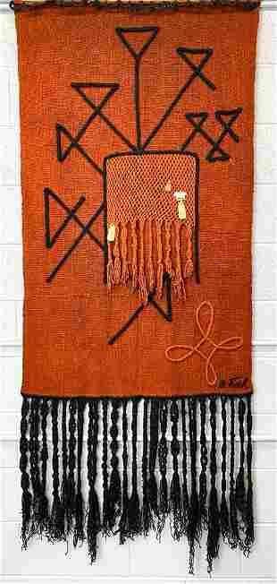Olga Fisch (1901-1990) Handwoven Mid-Century Tapestry