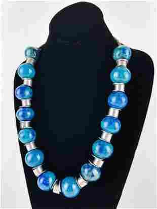 Doyle Lane (1925-2002) Mid-Century Pottery Necklace