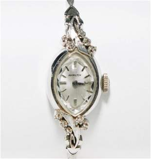 Ladies Hamilton Watch w/ Solid 14K and Diamond Bracelet