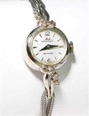 Mido Swiss 14K White Gold Diamond Ladies Watch