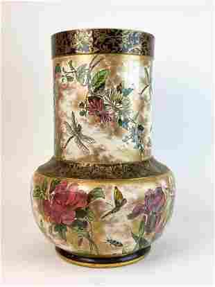 Doulton Burslem Large Victorian Porcelain Vase