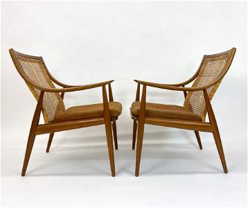 Peter Hvidt Pair Armchairs from MAD MEN SET