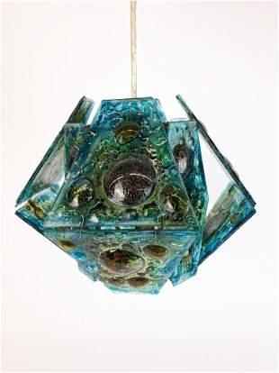 Felipe Delfinger for Feders Glass Pendant Lamp Mexico