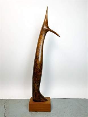 Nicholas Guastella Mid-Century Wood Sculpture