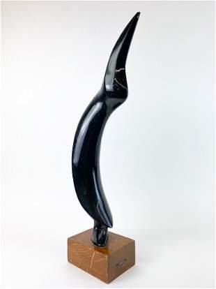 Nicholas Guastella Mid-Century Wood Sculpture, Penguin