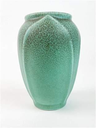 Vintage Rookwood Pottery Teal Speckled Vase