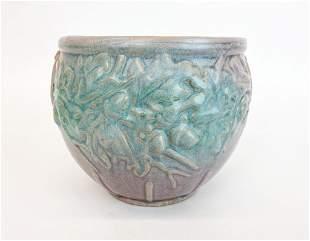 McCoy Ceramics Matte Green Over Mauve 1935