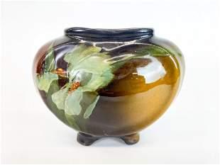 Weller Louwelsa 4 Footed Glazed Ceramic Vase
