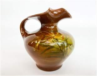 Lonhuda Pottery Stamped Glazed Ceramic Creamer