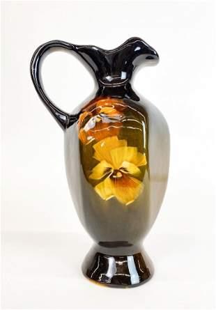 Owens Art Pottery Stamped Antique Glazed Ceramic Vase