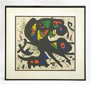 Joan Miro (1893-1983) Framed Lithograph