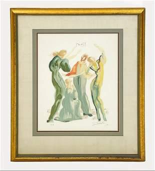 Salvador Dali Pencil Signed Print EA