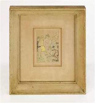 Marie Laurencin (1883-1956) Pencil Signed Aqua Tint