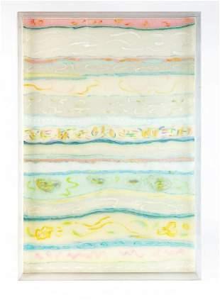Yvonne De Miranda (b. 1933) Signed Mixed Media Painting