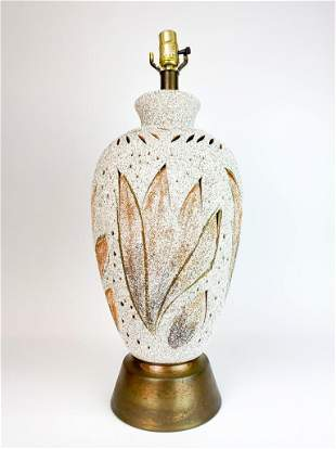 Volcanic Lava Glaze Pierced Ceramic Luminary Lamp