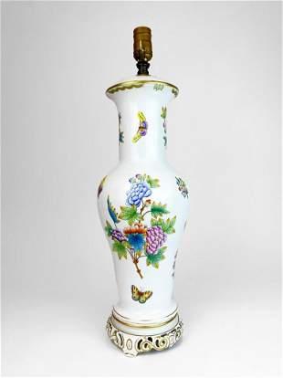 Herend Porcelain Vintage Table Lamp