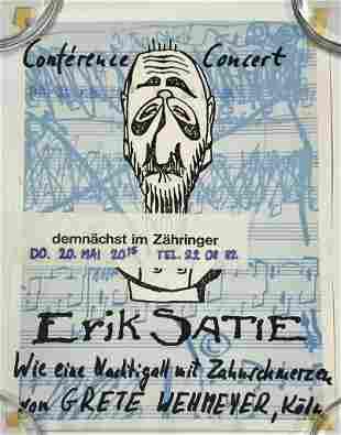 Erik Satie German Concert Poster