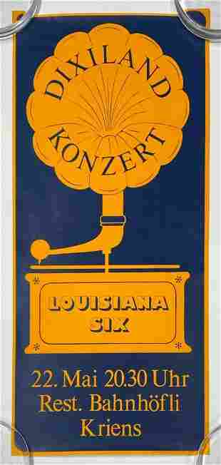 Vintage German Louisiana Six Dixieland Concert Poster