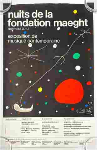 Joan Miro Gallerie Maeght Music Concert Poster