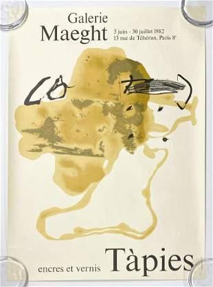Antoni Tapies Galerie Maeght Litho Poster Paris 1982
