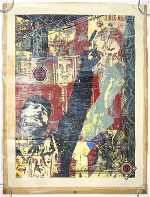 Shepard Fairey (b. 1970) Mixed Media on Paper
