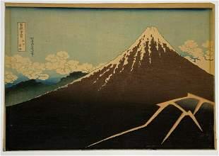 Katsushika Hokusai Woodblock Mt Fuji