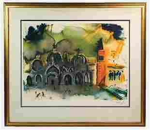 Salvador Dali Signed Lithograph 68/450 Homage to Venice