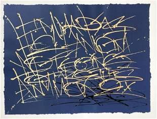 Saber (b. 1976) HPM Metallic Paper Signed 2/8